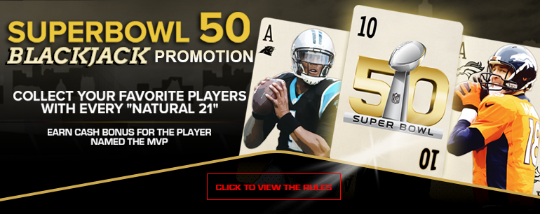 Superbowl 50 Blackjack Promotion